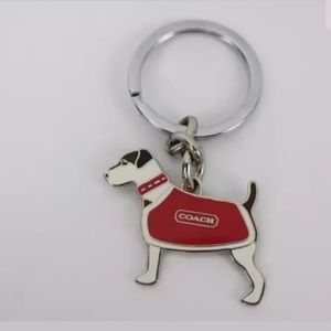 COACH Jack Russell Terrier Dog Key Ring/FOB #7321